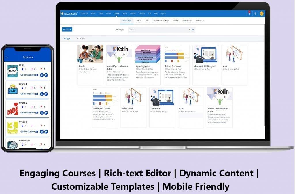 Calimatic EdTech Content Management & Courses